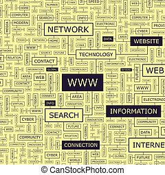 WWW Word cloud illustration Tag cloud concept collage