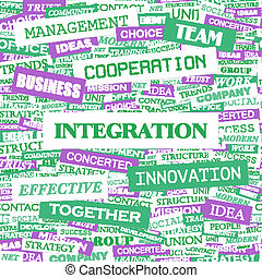 INTEGRATION Concept illustration Graphic tag collection...