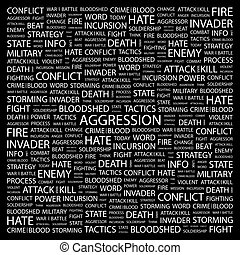 AGGRESSION Word cloud concept illustration Wordcloud collage...