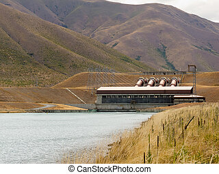 Hydro power station electricity generating plant