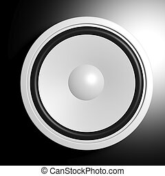 White speaker in black background