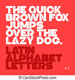 Latin alphabet letters - The quick brown fox jumps over the...