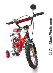 bicycle - red bicycle for children isolated on white...