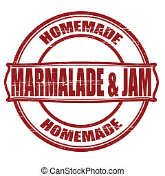 Marmalade and jam - Stamp with words marmalade and jam...