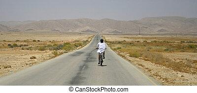 bike in desert