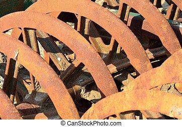 Rusty farm harrow