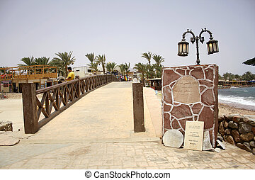 dahab - memorial signs in front of the bridge in dahab where...