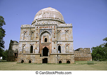 mughal architecture at lodhi gardens, delhi, india