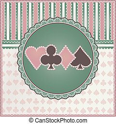 Vintage casino background with poker elements