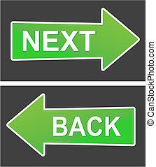 Sign Next - Back