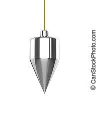 3d Plumb line - 3d render of a plumb line