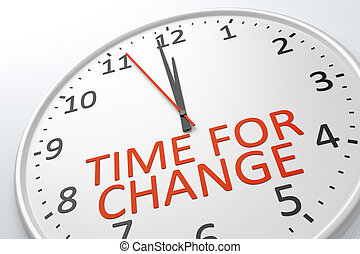 time for change - An image of a nice clock with time for...