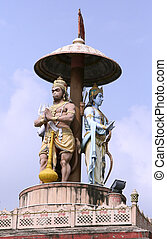 shiva - statue of lord Ram and hanuman, rishikesh, india
