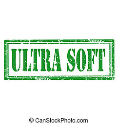 Ultra Soft-stamp - Grunge rubber stamp with text Ultra...