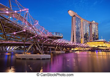Marina Bay Sands, Singapore - Marina Bay Sands and The Helix...
