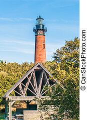 Currituck Beach Lighthouse on the Outer Banks of North...