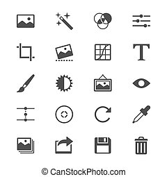 Photography flat icons - Simple vector icons Clear and sharp...