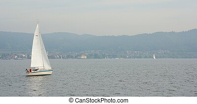 Sail boat on Lake Constance 3