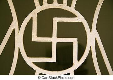 swastika symbol, jain temple, south india