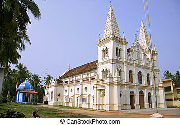 fort kochi, kerala, india - church at fort kochi, kerala,...