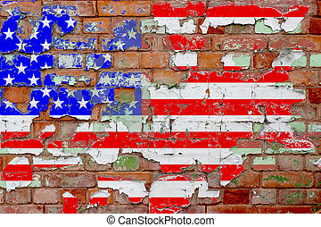 Grunge United States Flag - A United States Flag on an Old...