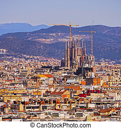 Cityscape of Barcelona - Barcelona Cityscape - view from...