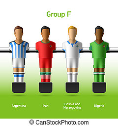 Table football / foosball players - World soccer...