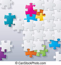 abstract concept puzzles vector background