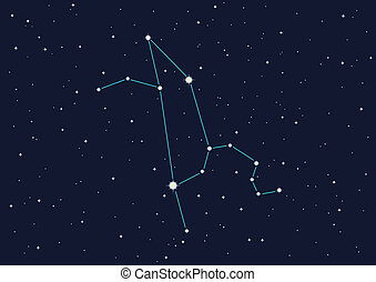 constellation - computer generated illustration of...