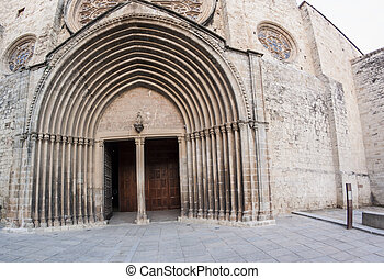 Old Curch - Old Spanish church entrance with arches