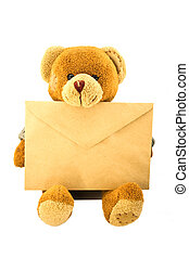 Teddy bear with an envelope