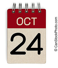 24 oct calendar