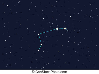 """constellation \""""Aries\"""" - computer generated illustration of..."""