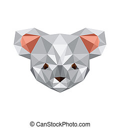 origami koala bear - Illustration of origami koala bear...