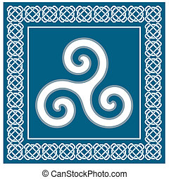 Celtic Ancient symbol triskelion - Ancient symbol triskelion...