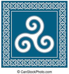 Celtic Ancient symbol triskelion - Ancient symbol triskelion...