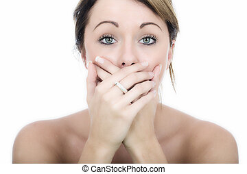 Attractive Shocked Young Woman