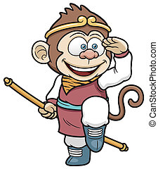 Monkey king - Vector illustration of monkey king
