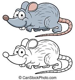 Cartoon rat - Vector illustration of cartoon rat