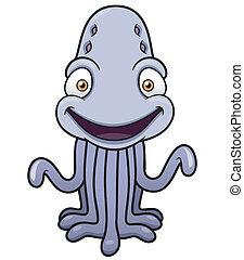 Monster - Vector illustration of cartoon monster