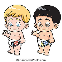 Cartoon baby - Vector illustration of Cartoon baby