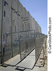 palestine border - wall separating israel with the west...