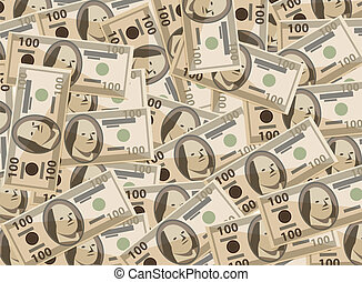 vector background with stylized dollars