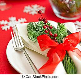 Christmas Dinner table setting