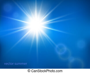 vector hot sun with lens flare