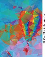 Vibrant Colorful Background - Abstract colorful geometric...