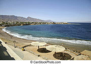 dahab - red sea beach resort, sinai, egypt