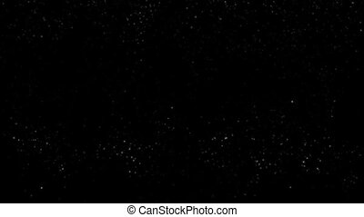 particle motion on black background