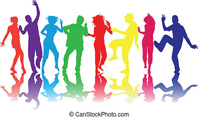 Illustration of people dancing - Illustration