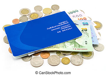 Thailand Coins and Account Passbook
